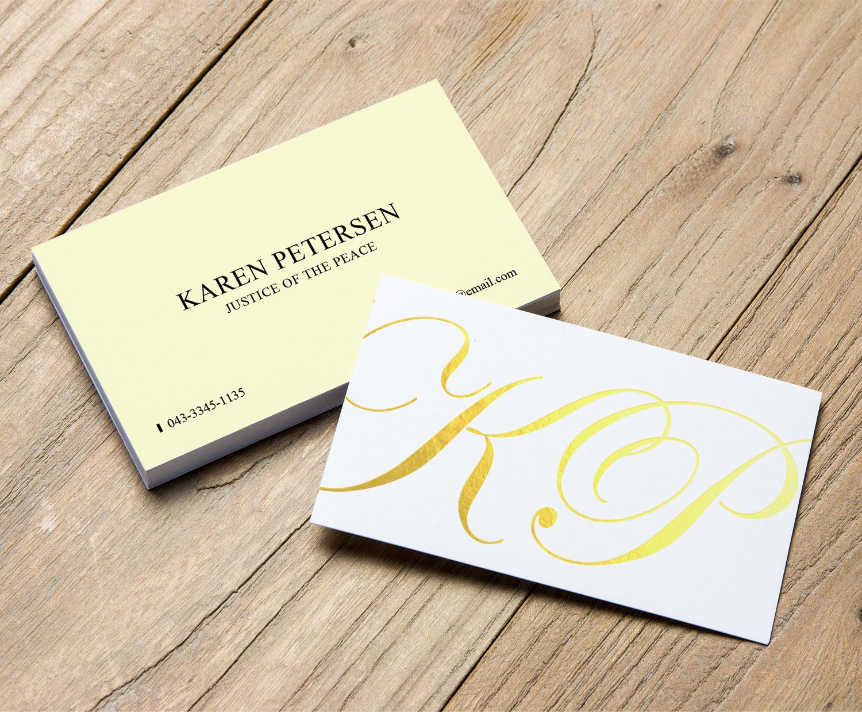 Elegant serious business business card design for petersen business card design by sandaruwan for petersen design 15834733 reheart Choice Image