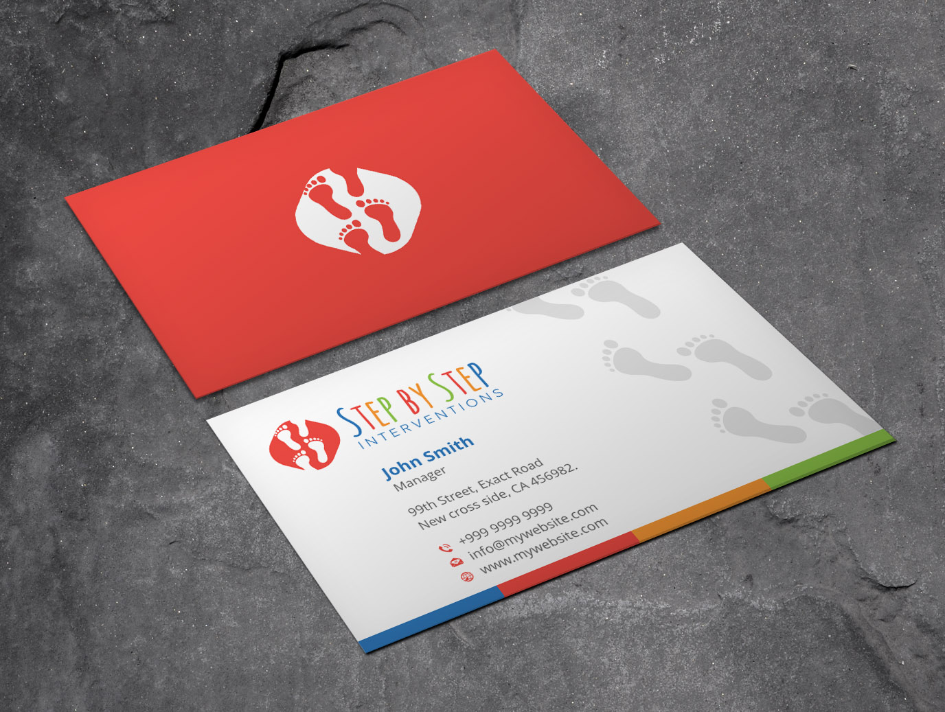 Colorful, Personable, Psychology Business Card Design for Step by ...