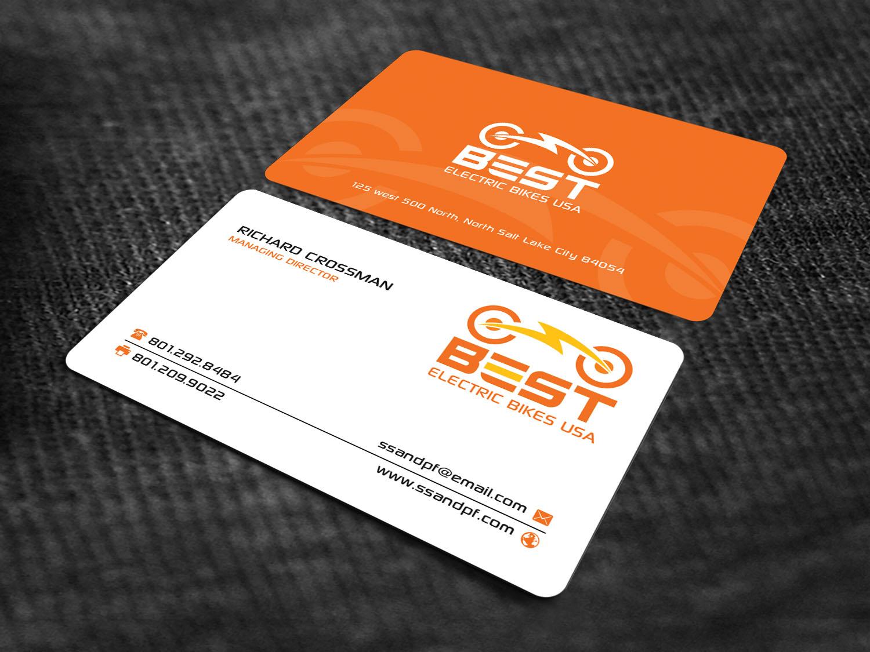 Elegant playful sporting good business card design for best business card design by sandaruwan for best electric bikes usa design 15869801 colourmoves