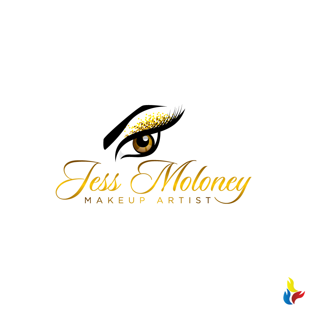 Modern Serious Makeup Logo Design For Jess Moloney Makeup Artist