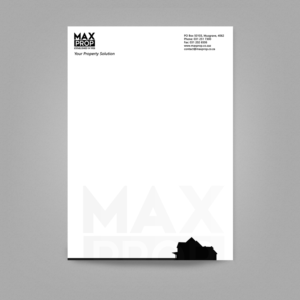 letterhead design by manodesign1 for maxprop design 15876781