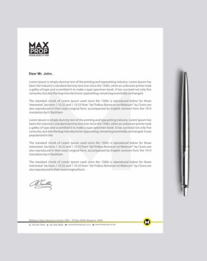 letterhead design by madhuraminfotech for maxprop design 15892107