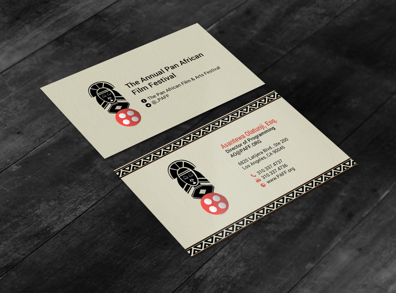 Business business card design for pan african film festival by business business card design for pan african film festival in united states design 15879994 colourmoves