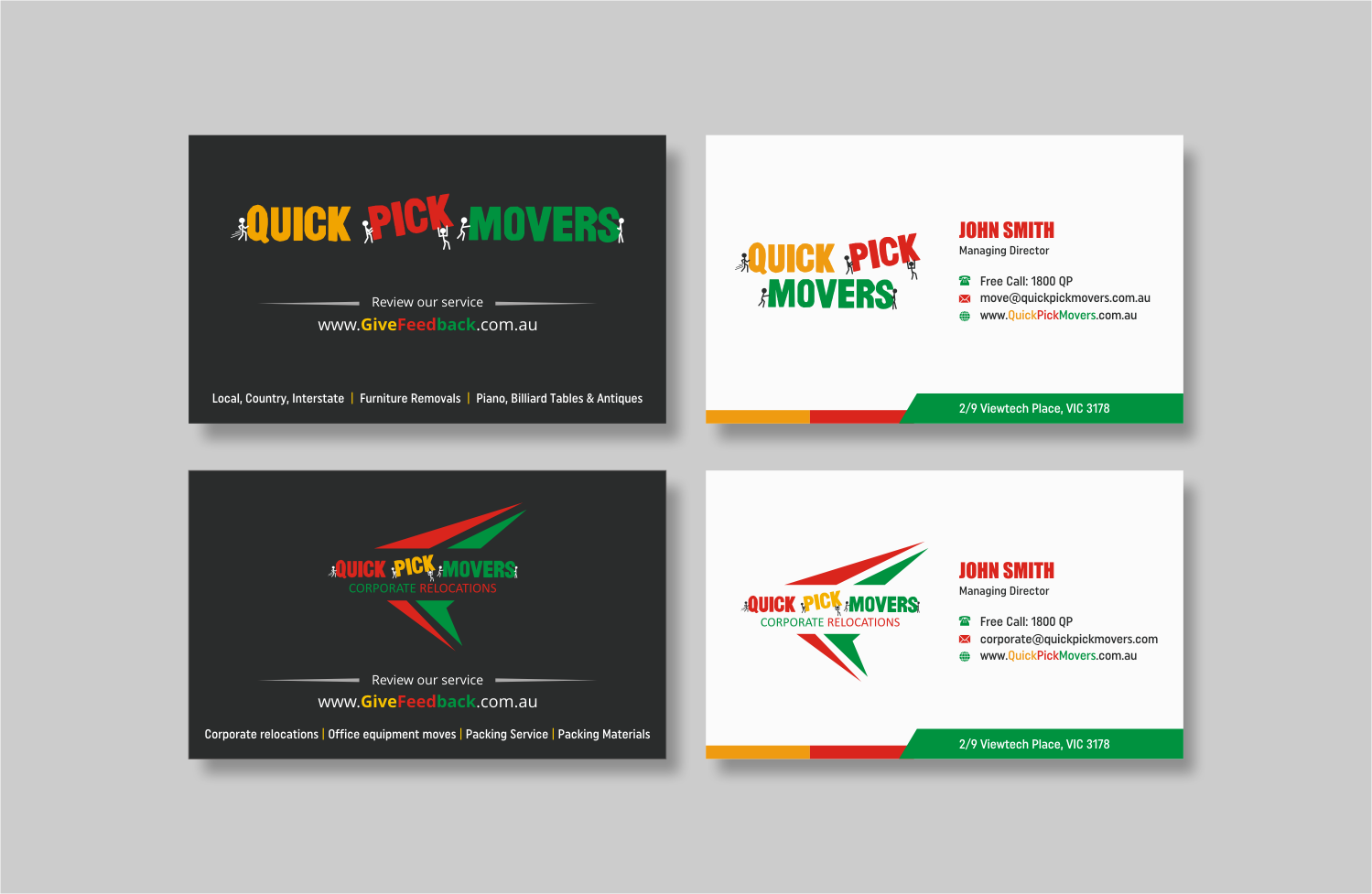 Playful, Colorful, Business Business Card Design for a Company by ...