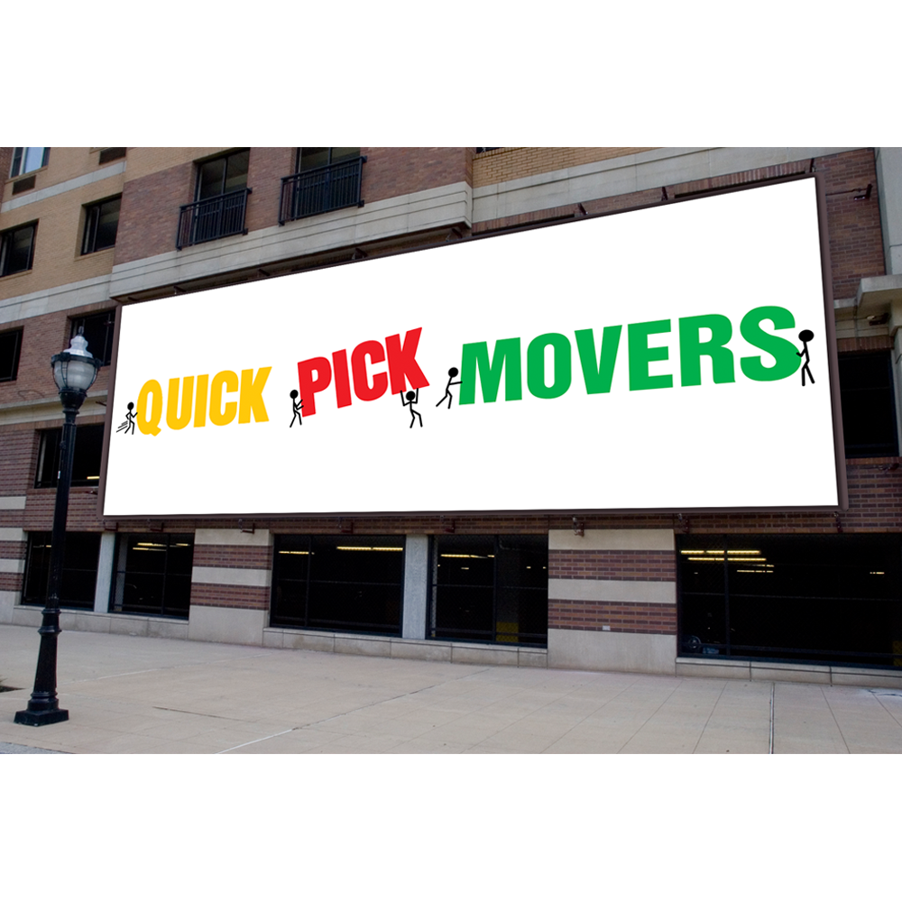 Playful, Colorful Business Card Design for Quick Pick Movers by Miki ...
