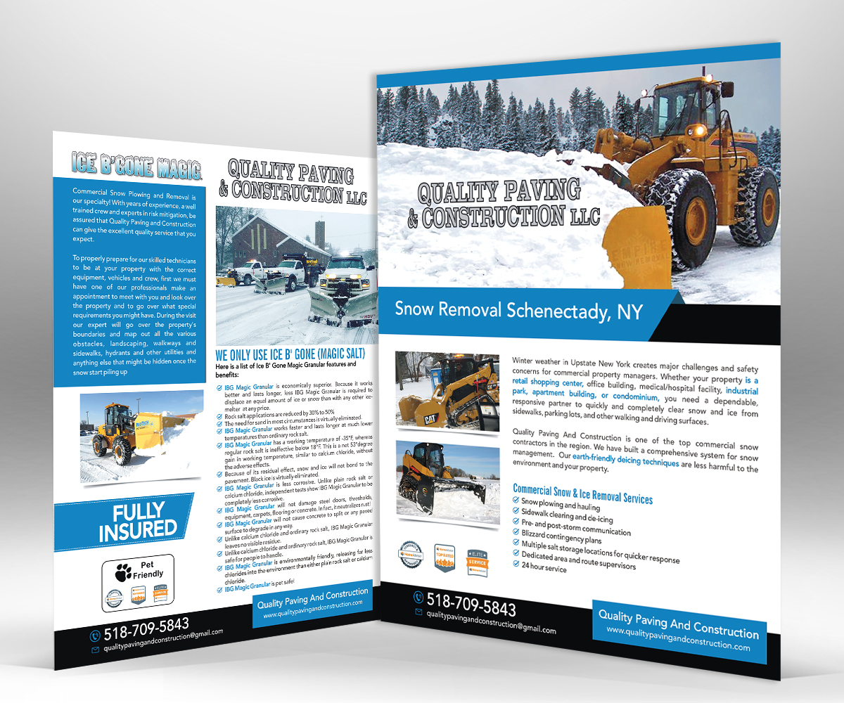 flyer design by designers hub for bumpys polar freeze inc design 15882092