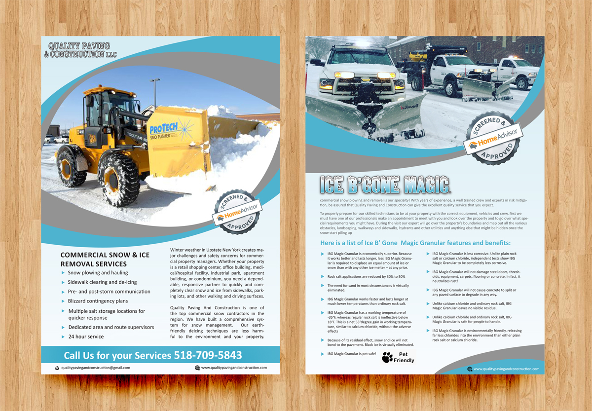 flyer design by rkailas for bumpys polar freeze inc design 15939495