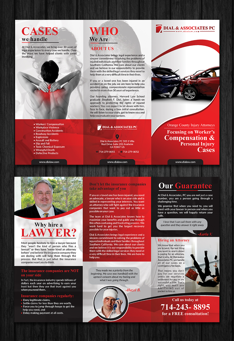 Modern, Professional, Legal Flyer Design for Dial & Associates PC by ...