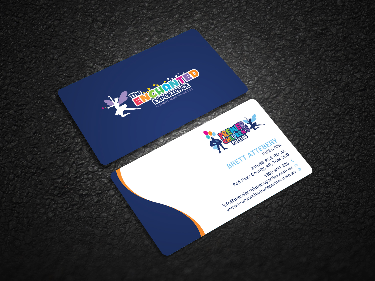 Playful modern business card design for action reaction business card design by graphic flame for childrens party business needs a business card design reheart Images
