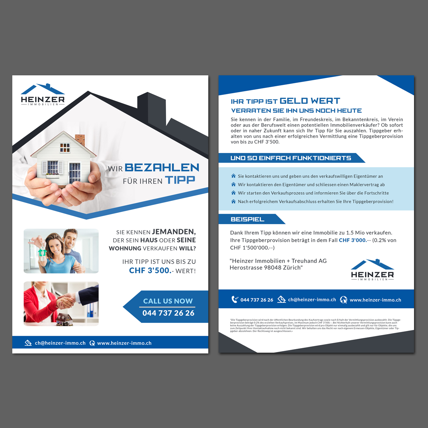 Elegant, Modern, Real Estate Flyer Design for a Company by debdesign ...