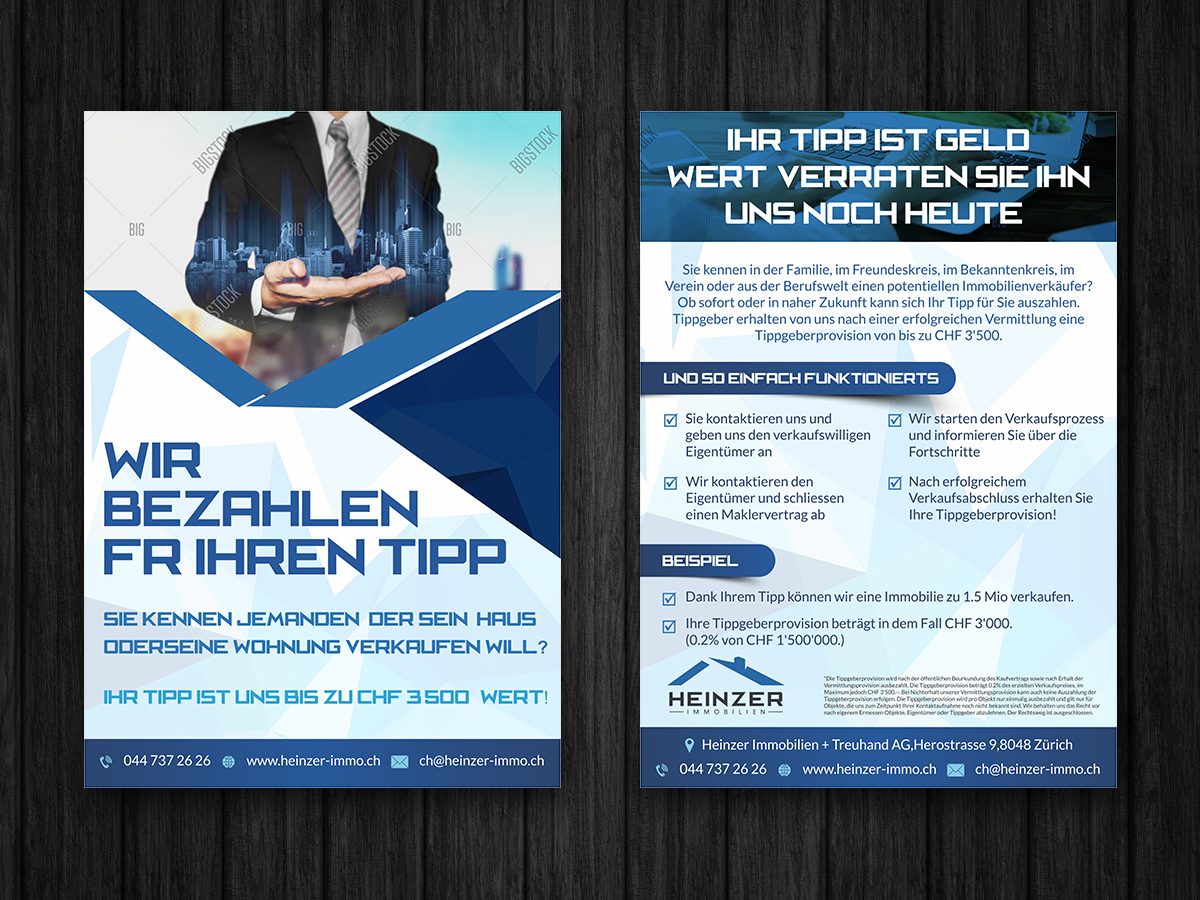 Elegant, Modern, Real Estate Flyer Design for a Company by ESolz ...