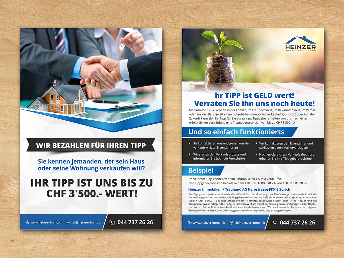 Elegant, Modern, Real Estate Flyer Design for a Company by ecorokerz ...