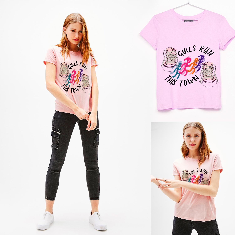 Feminine Modern Recreation T Shirt Design For Girls Run This Town