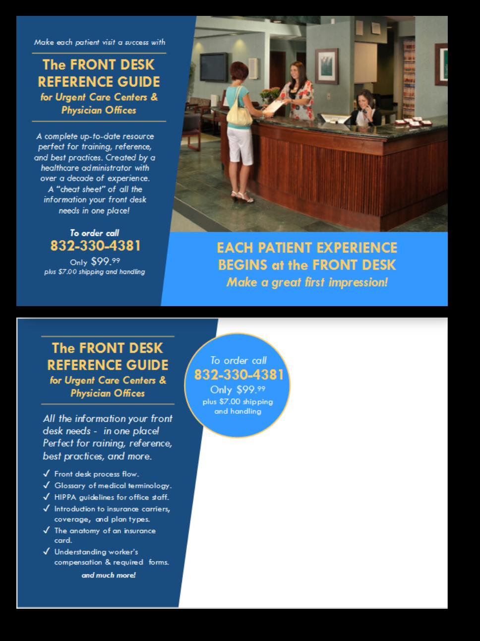 Comprehensive guide for the front desk medical office staff  | 9