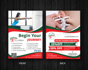personal trainer flyer ideas