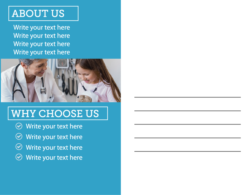 Professional, Serious, Healthcare Postcard Design for East Beach