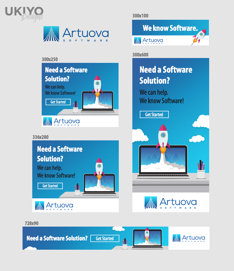 Bold Playful Computer Software Banner Ad Design For A Company By Ammii Design 15954383