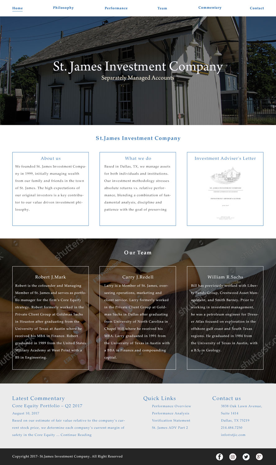 Serious Professional Financial Web Design For St James Investment Company By Gates M Design 15954934