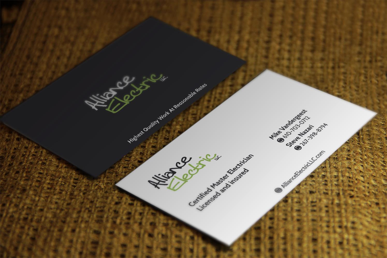 Elegant, Playful, Electric Company Business Card Design for Nazari ...