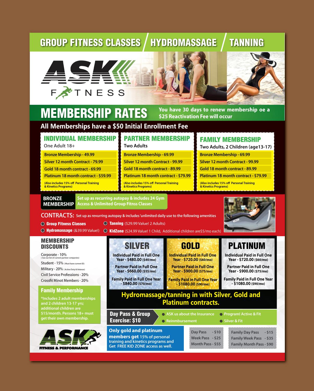 Elegant, Playful, Fitness Flyer Design for ASK Fitness by