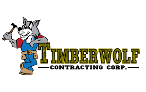 Logo Design by Gabriel Becerra - Timberwolf contracting corp framing custom colu...