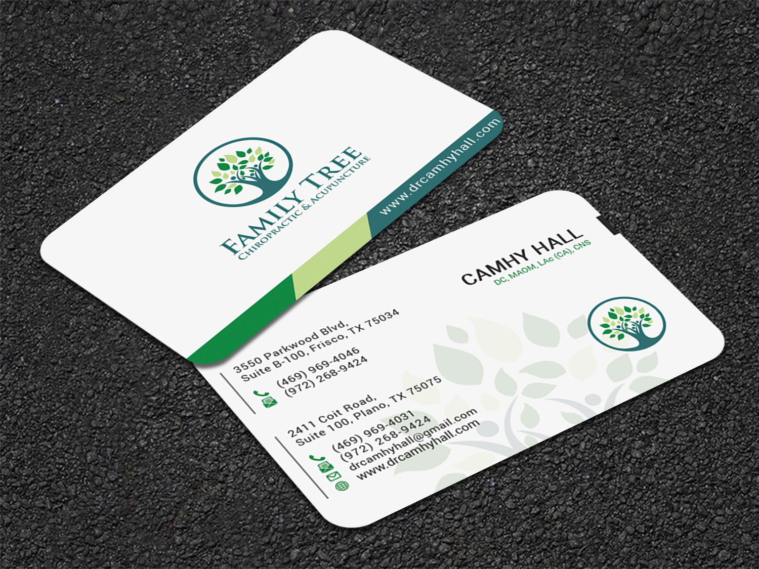 Elegant, Modern, Health And Wellness Business Card Design for a ...