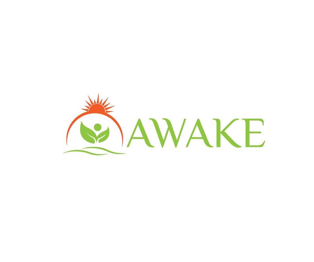 personable feminine health and wellness logo design for awake by rh designcrowd com