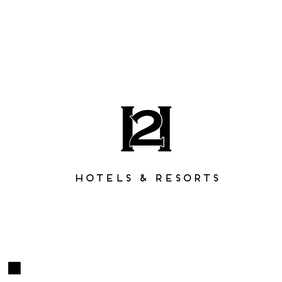 professional, serious, hotel logo design for h2 by chynthiadewi91