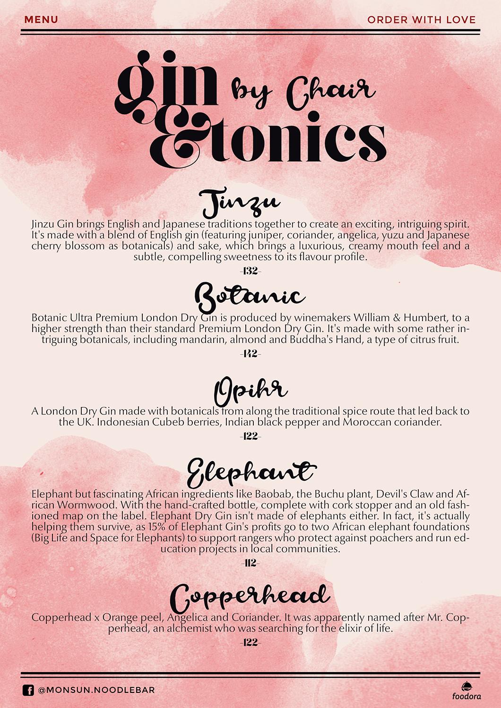 Asian menu design