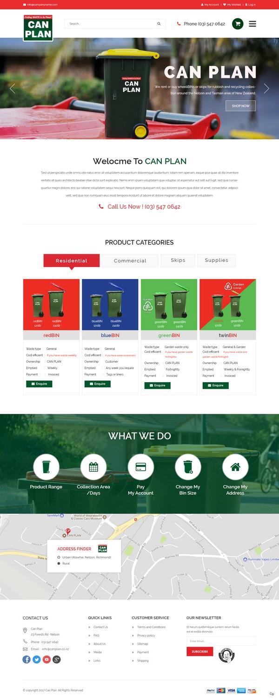 Upmarket, Modern, Waste Management Web Design for a Company