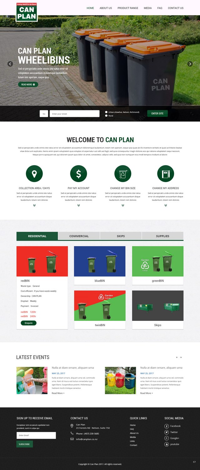 Upmarket, Modern, Waste Management Web Design for a Company by pb
