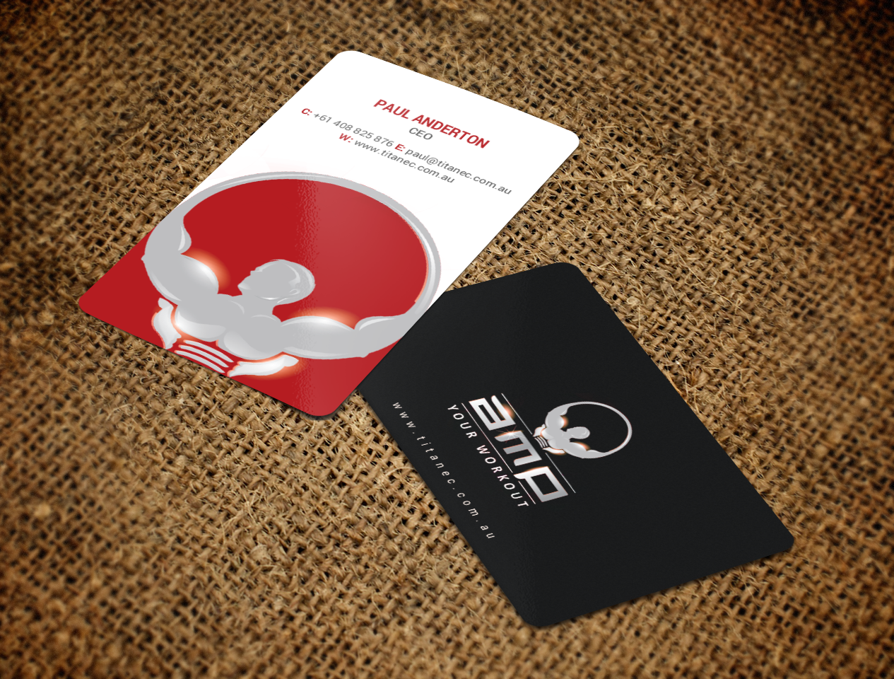 Elegant, Personable, Gym Business Card Design for Titanec Pty Ltd by ...