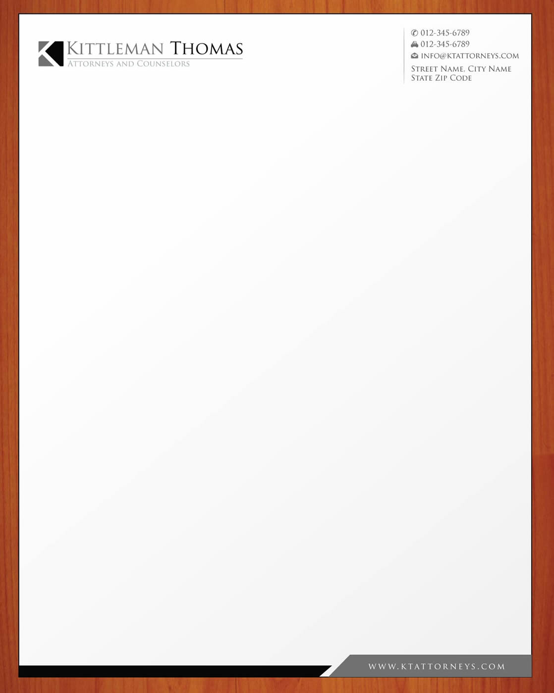Professional, Upmarket Letterhead Design for Raymond Thomas by ...