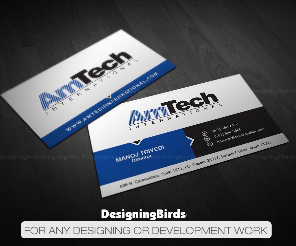 Modern professional manufacturer business card design for amtech business card design by designing birds for amtech international design 16054977 colourmoves