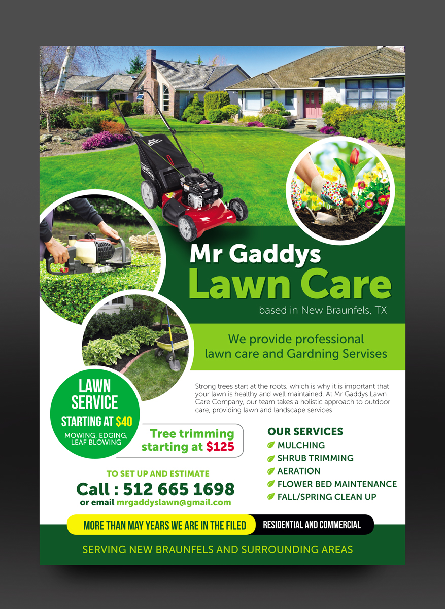 Serious Modern Landscaping Flyer Design For Mr Gaddys