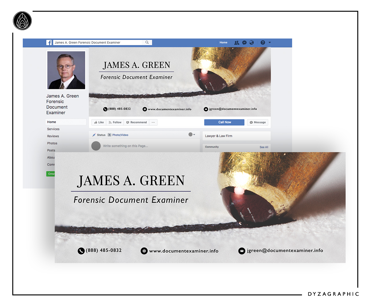 Serious Modern Retail Facebook Design For Forensic Document Examiner By Dyzagraphic Design 16052146