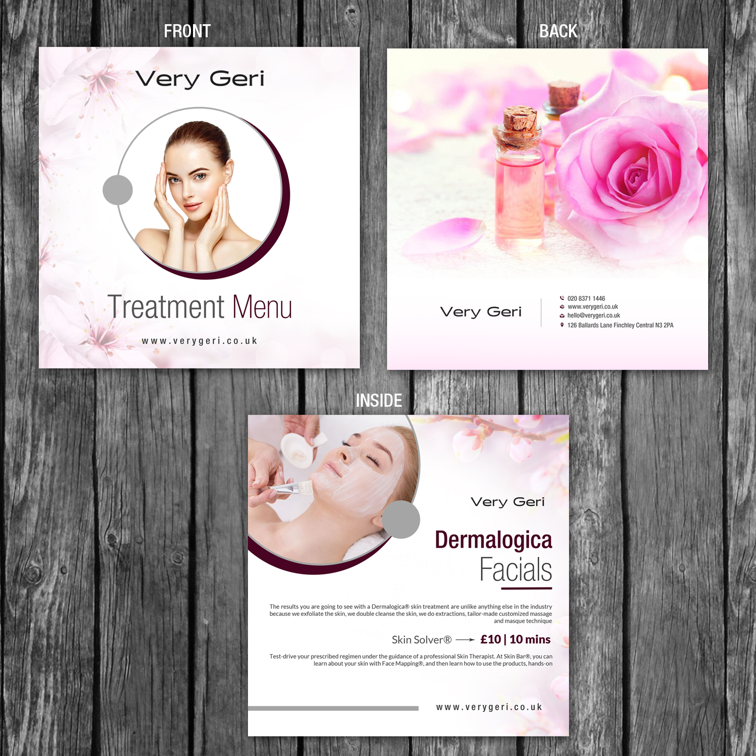 Upmarket Elegant Beauty Salon Brochure Design For A Company By