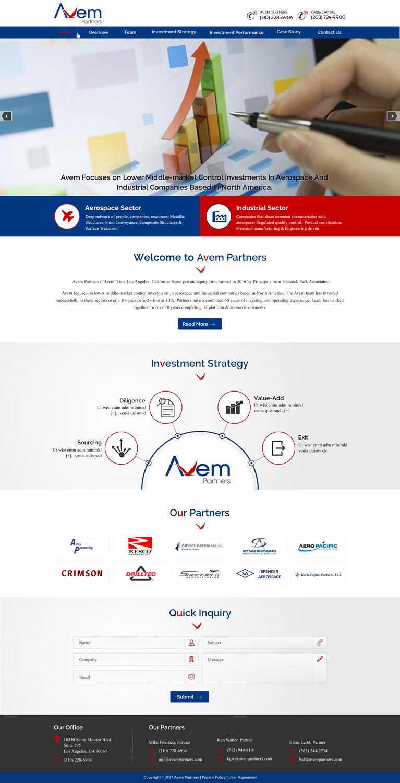Masculine Bold Equity Web Design For Avem Partners By Harmi 199 Design 16064188