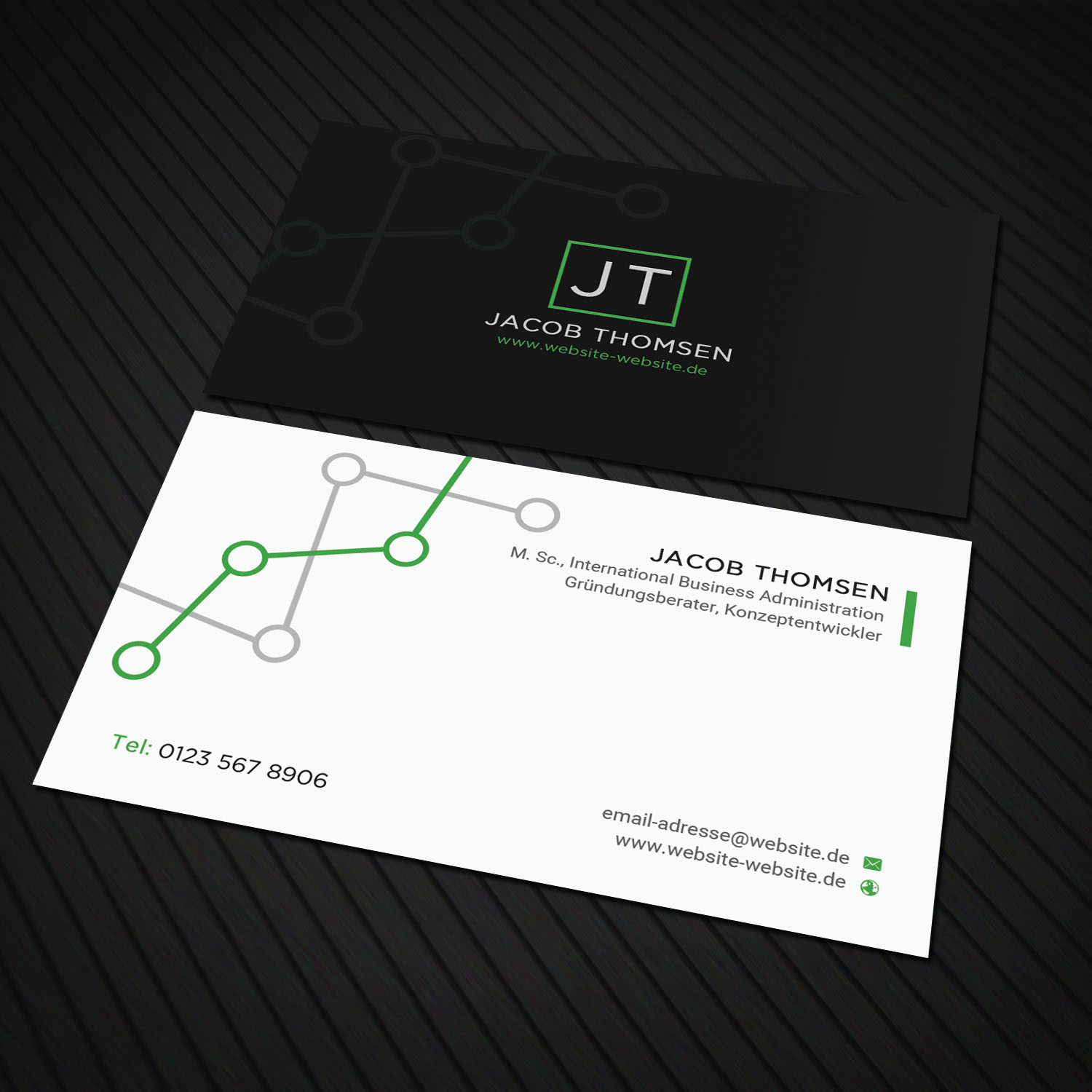 Professional, Upmarket, Consultant Business Card Design for a ...
