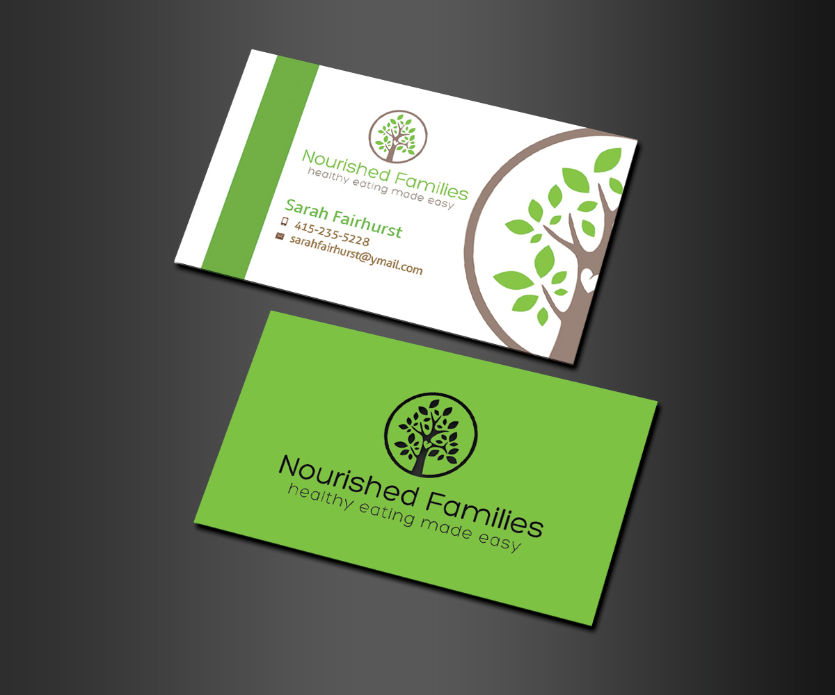Elegant Playful Health Poster Design For A Company By: Elegant, Playful, Nutrition Business Card Design For A