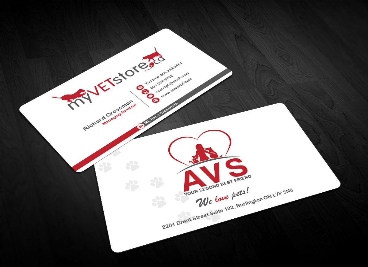 Bold playful business card design for acumenex veterinary solutions bold playful business card design for company in canada design 16023670 colourmoves