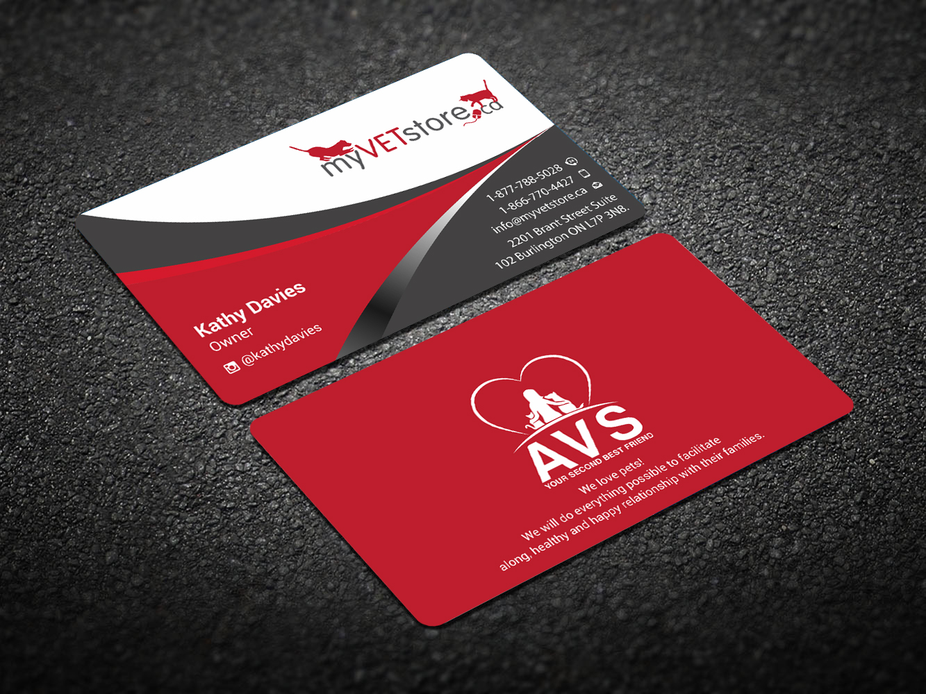 Bold, Playful Business Card Design for Acumenex Veterinary Solutions ...