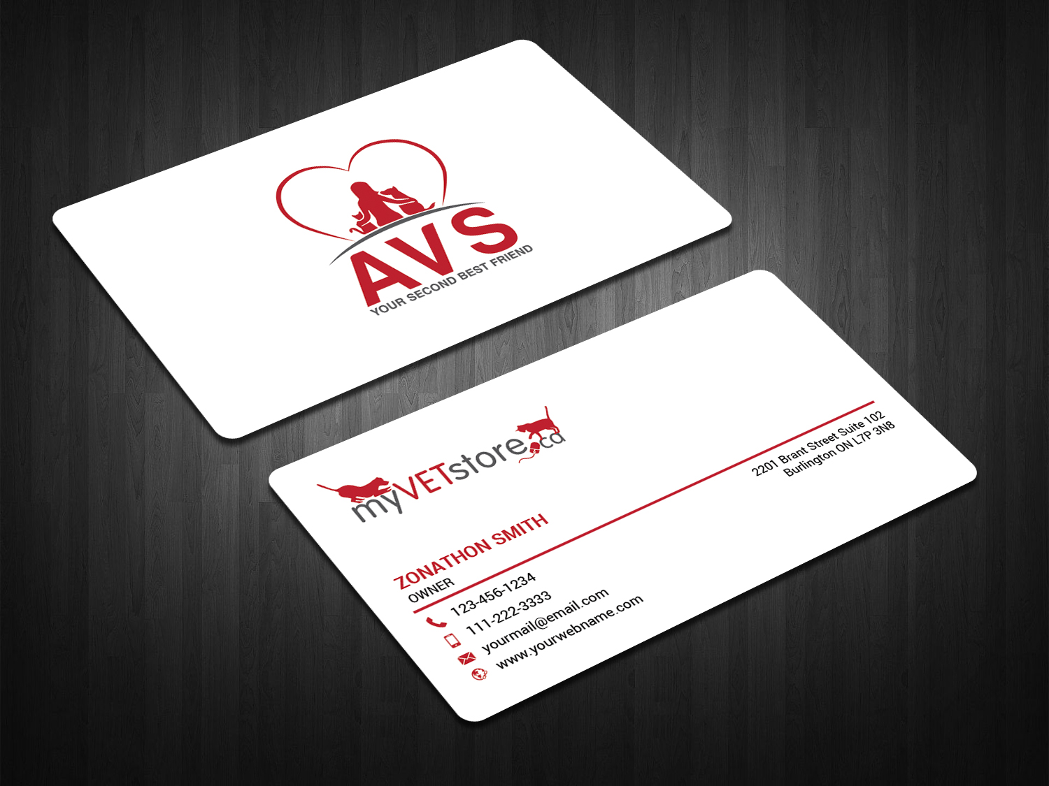 Bold playful business card design for acumenex veterinary solutions bold playful business card design for company in canada design 16020695 colourmoves