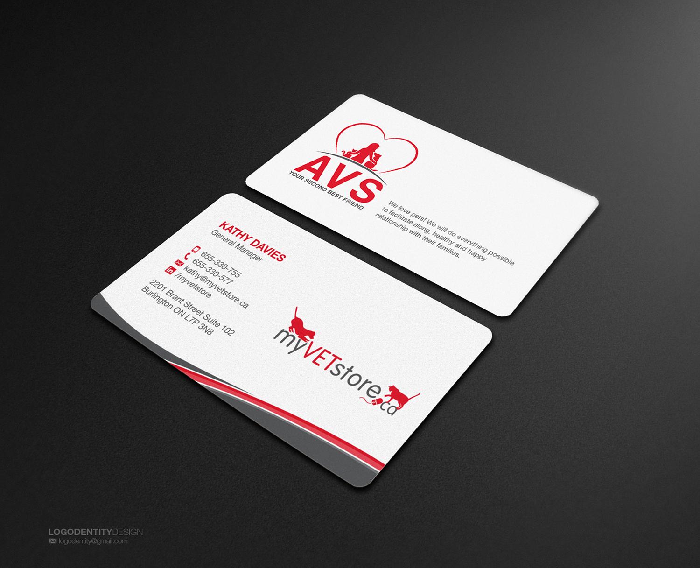 Bold, Playful, Veterinary Business Card Design for Acumenex ...