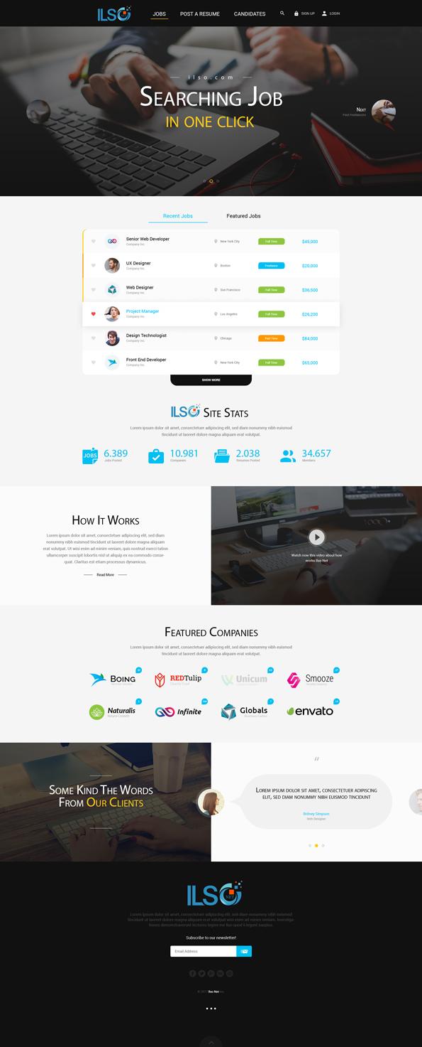 Modern, Professional, Internet Web Design for ILSO Net, LLC by ...