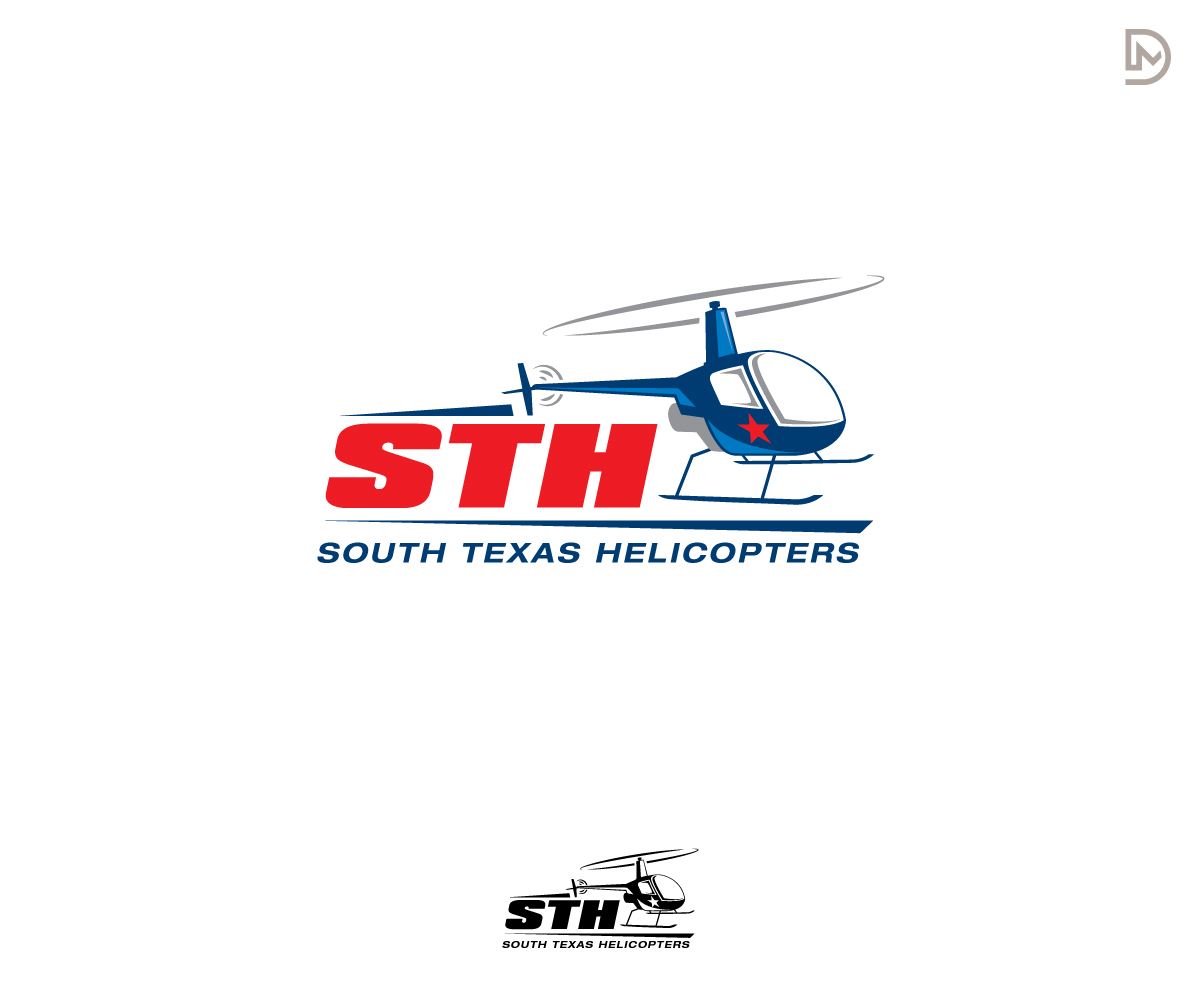 logo design for south texas helicopters sth or any combination by
