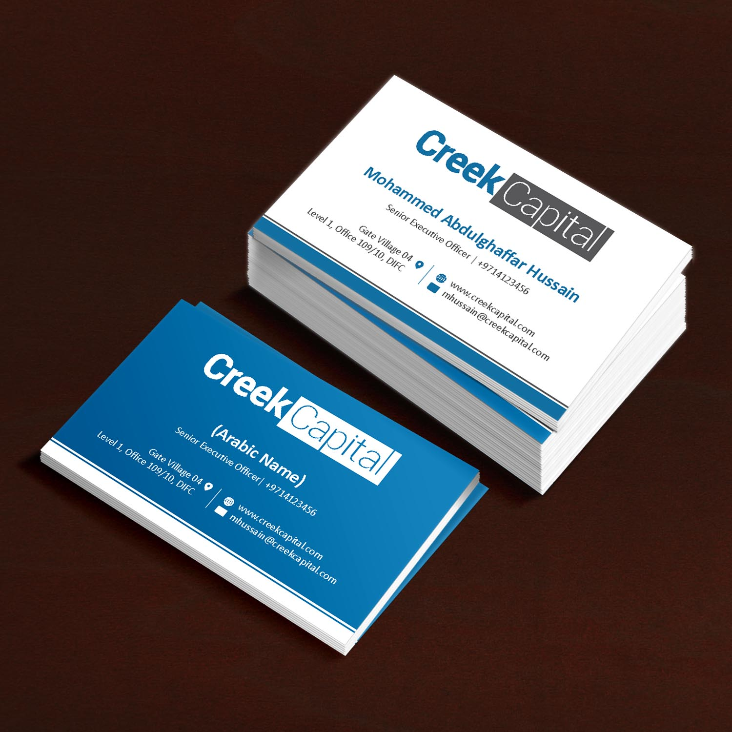 Serious, Traditional, Investment Business Card Design for Green ...