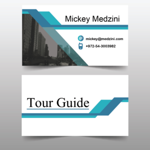 Color tourist business card design 1000s of color tourist business card design for michael medzini by naina sheikh reheart Image collections