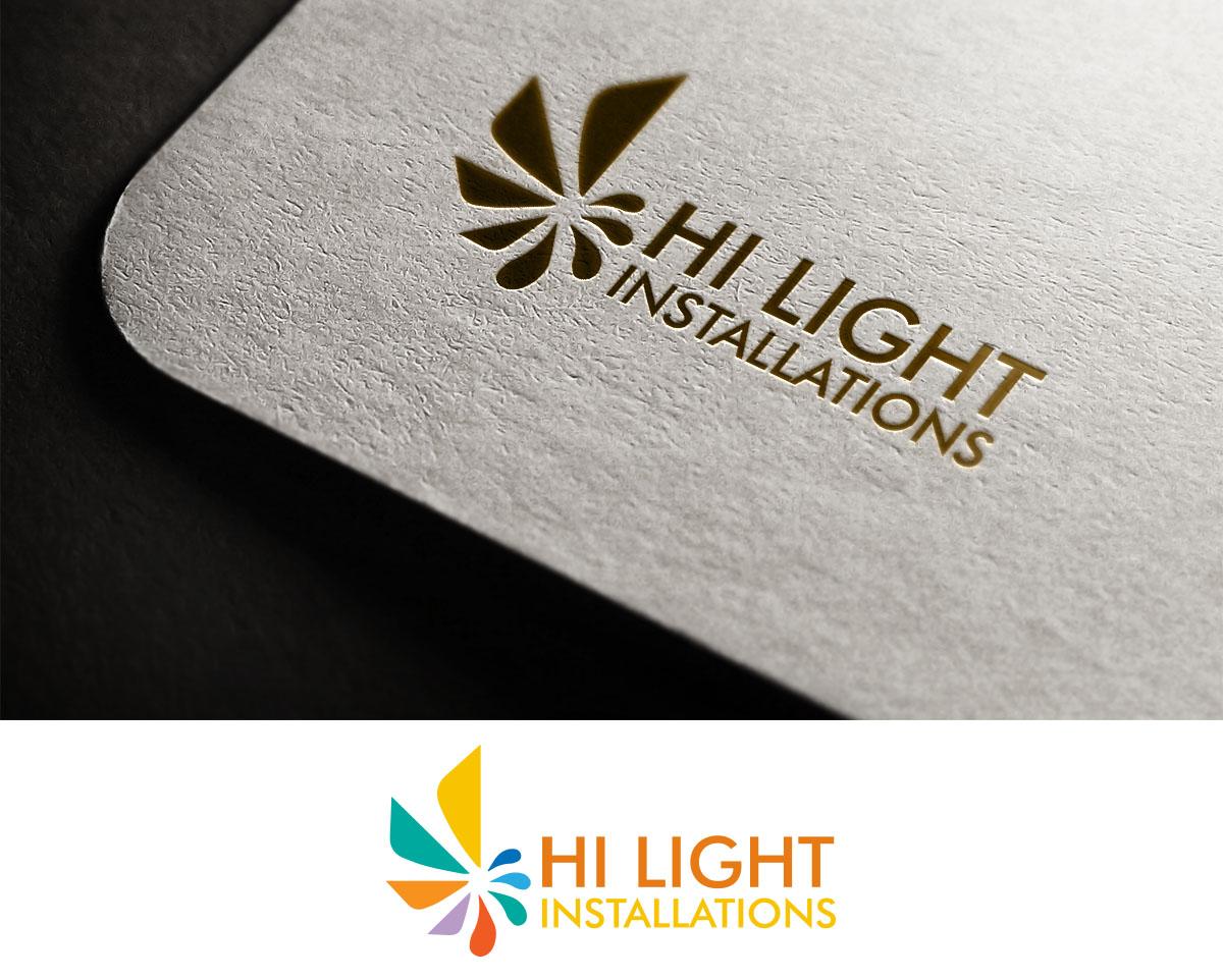 Modern colorful wedding logo design for hi light installations by logo design by sara creative for kauai generator rentals design 16059496 reheart Images