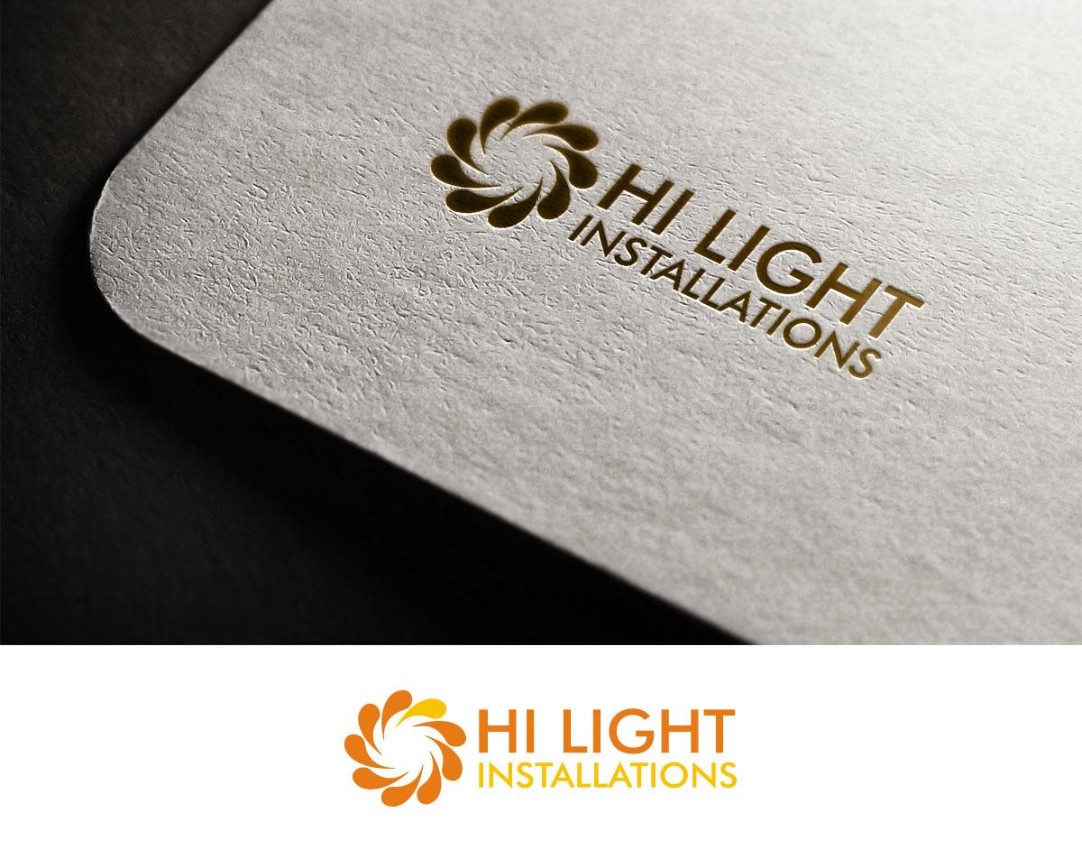 Modern colorful wedding logo design for hi light installations by logo design by sara creative for kauai generator rentals design 16059497 reheart Images